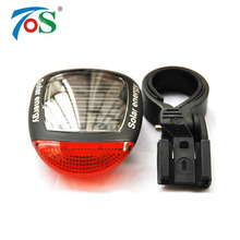 Bike Solar Energy Light Rechargeable LED Seatpost Lamp Bicycle Accessories Bike Back Rear Tail Light Cycling Bicycle Reflector(China)