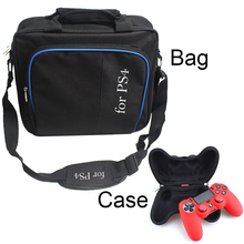 Travel Case Carrying PS4 Console bag Controller Shockproof Joystick Pouch Case handbag For PS4 PS 4 Playstation Console Gamepad(China)