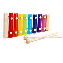 New Arrival Infants Early Childhood Music Instrument Baby Toys Wooden 8 Notes Educational Toy Musical Instrument For Kids(China)