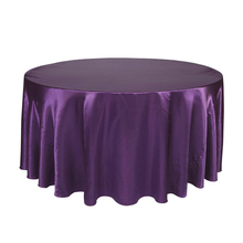 Round Table Cloth Topper Tablecloth Luxury Polyester Satin Table Cover Oilproof Wedding Party Restaurant Banquet Home Decoration(China)