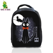 Anime Ghibli Totoro Kiki's Delivery Service Backpack Cool Fluorescence School Bags for Kids Boys Girls Kindergarten School Bags(China)