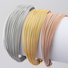 Women's fashion magazine titanium steel rose gold bracelet jewelry stainless steel love bracelet stranded wire bracelet bangle