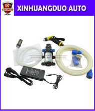 80w Portable 12v car washer high pressure water pump with power adaptor  For home use