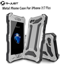 R-JUST Gundam Gorilla Glass Aluminum Metal Shockproof Bumper Heavy Duty Protective Cover Shell Case for iPhone 7 7 Plus(China)