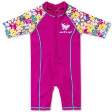 Girls Rash Guard Kids Short Sleeve One Piece Swimsuit Sun Protection (UPF50+) Bathing Suit for Baby Girls Children Beach Wear