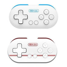 Mini 8Bitdo ZERO Controller Portable Bluetooth White Wireless GamePad Shutter For Android Phones iOS for iPhone Windows Mac OS
