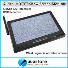 RC800 7 inch Wireless HD LCD TFT Snow Screen Monitor with 5.8Ghz 32CH Receiver and DVR Recorder For FPV System(China)