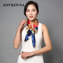 AOVKOVSA 2017  New Square Bandana Explosion Star Satin Scarves for Women Silk Scarf Shawl Drop Shipping 90*90cm