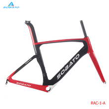 SOBATO Hot Sell Aero Carbon Road Bicycle Bike Frame Full Monocoque Fork Carbon Road Bike Frame