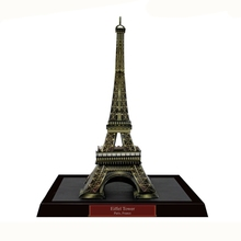 The Eiffel Tower Fun 3d Paper Diy Miniature Model Kits Puzzle Toys Children Educational Boy Splicing Science(China)