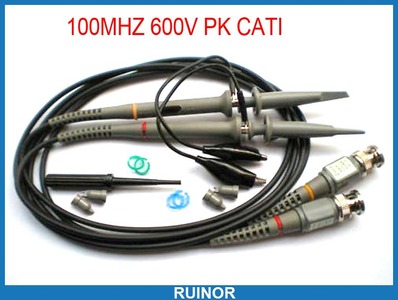 1set 100MHz BNC to Test Hook Alligator Clip Scope Clip Probes for Oscilloscope<br>