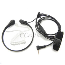 2.5mm 1 Pin Throat Microphone Mic Headset Earpiece for Motorola CB Radio Walkie Talkie MB140R T280 T5200 T5428 T5400 MH230R