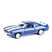 1:36 RMZ city 1969 SS Chevrolet Komaro Vintage Car Retro Bike Toy Vehicles Alloy Pull Back Model Toys Collection Children Gift(China)