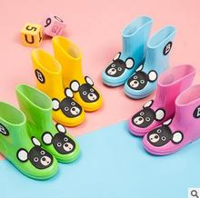 Rain boots for kids 2017 child water shoes kids brand cartoon rainboots waterproof baby rain boots fashion brand sneakers