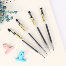 2 Pcs/lot Simple Color Transperence Stalk Gel Pen Black Ink Marker Pen School Office Supply Escolar Papelaria