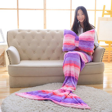 GZTZMY mermaid tail blanket coral fleece blanket mermaid blanket adult knitted mermaid blanket kids for children wholesale(China)