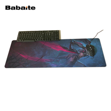 Babaite New Design Unique High Quality Desktop Pad Mousepads Computer Animation Mouse Mat Silica gel Gaming Headhunter Akali