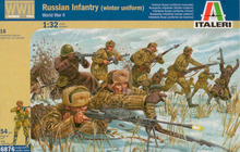 Out of print! ITALERI 1/32 WWII Russian Infantry in Winter Dress (16) ITL6876
