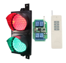 200mm/8 inch remote control led traffic light in red green colors(China)