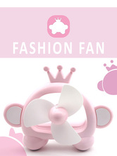 new creative Hot selling Crown shape mini fan table fan Thickened plastic Chassis & Soft fan leaves for kids(China)