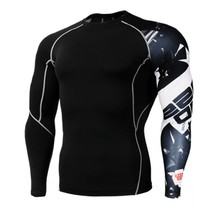 2017 Mens MMA Fitness T Shirts Fashion 3D Teen Wolf Long Sleeve Compression Shirt Bodybuilding Crossfit Brand Clothing