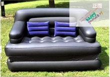 Newest Folding Inflatable double sofa Bed High Quality PVC 5 in 1 Sofa bed Inflatable Air Furniture Outdoor Indoor Living Room(China)