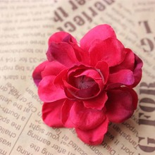 6CM High Quality Large Fabric Real Touch Silk Lotus Flower Heads,Material Headdresses,DIY Wedding Bouquet Decoration Accessories(China)