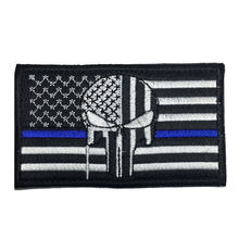 Tactical United States US USA FLAG Patches / BADGES PUNISHER SKULL POLICE THIN BLUE LINE ARMY MILITARY MORALE PATCH