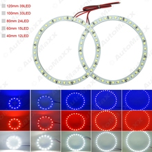 2Pcs Car Angel Eyes 1210/3528 39SMD LED Headlight Halo Ring Angel Eye Lighting White Red Blue#J-2674(China)