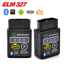 2017 Hot Auto Car ELM327 HH Bluetooth v2.1 OBD 2 OBD II Diagnostic Scan Tool elm 327 Scanner works on android