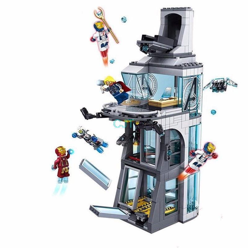 Marvel Avengers Iron Man building block Attack On Tower assemblage bricks model IronMan Base Ftoys--mini compatible with<br>