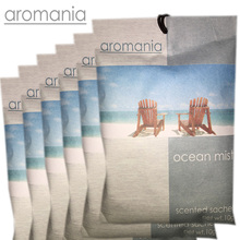 6PCS/lot Aromania Fresh Ocean Mist Scented Sachet Fragrance Drawer Sachet Bag For Bedroom Car Flavor Fragrance Indian