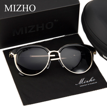 MIZHO Vidrio Metal Star Polarized Sunglasses Women Cat eye Vintage UVA Polaroid Sunglass Protector Mirror Original Case 2018(China)