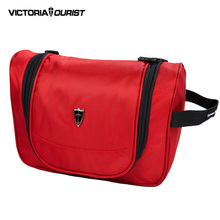 VICTOURIATOURIST women cosmetic bag/makeup bag women /small makeup women/nylon toiletry bag/beauty box/travel organizer/3005 red(China)