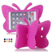For iPad Mini Case Kids Light Weight Cute Butterfly Design Shock Proof EVA Foam Cover Case for iPad Mini / Mini 2 / Mini 3