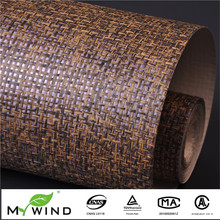 Modern Brown Texture Purple Foil  Background Paper Weave Wallpaper  Sound Absorbers Home Decoration Wall Covering