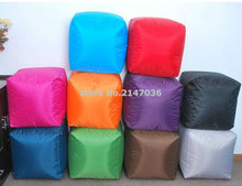 outdoor waterproof colorful lovely cute square fire resistant bean bag chairs floor footstool ottomans