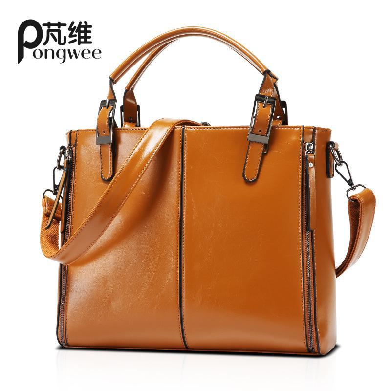 PONGWEE Vintage Style Hand Bag Womens Shoulder Messenger Bags Retro High Quality PU Lady Female Handbags Women<br>