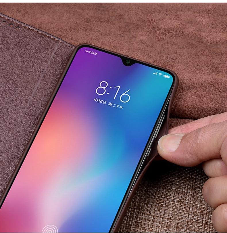 For Xiaomi Mi 9 Case Mi9 Cover Luxury Geniuine Cowhide Leather Soft Silicone Cases for Xiaomi Mi9 Case Flip Cover Case12