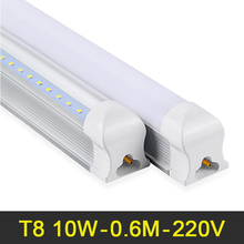 LED Tube T8 600mm 2ft LED Tube Light 10W LED Integrated Tube 220V 240V LED Lights Lamp SMD2835 Lighting Clear/Milky Cover