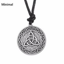 Minimal Lada-Virgin Amulet Gothic Slavic Pendant Necklace Kolovrat Goth Jewerly Star of Russia Men/Women Necklace Jewelry(China)