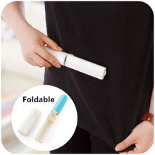 1 Pc New Mini Folding Reusable Hair Dust Remover Sticky Roller Cloth Cleaning Lint Brush Hot(China)