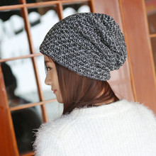 Women Spring Winter Hats 2016 Inner Warm Beanies Women Knitted Cap Crochet Knitted Hats Cap Female Chapeu Feminino #1129