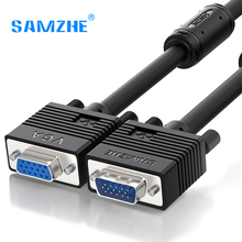 SAMZHE 1080P VGA Cable Double with Ferrite Rings VGA Cable 3+6 D-SUB Cable 1.5m 3m 5m 10m 20m 30m for Projector Monitor