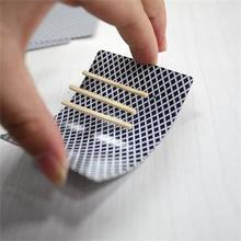 Hot Selling Close-Up Magic Incredible Floating Card Charming Toothpick Match On Card Street Bar Trick