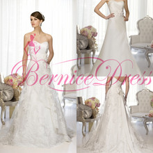 Beach Wedding Dresses 2014 A-Line Court Train White Silk Taffeta Flower Sweetheart Wedding Dress Simple Designer Wedding Dresses