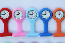 100pcs/lot free shipping nurse watch doctor watch silicon watch Colourful Professional Useful Medical Watch(China)