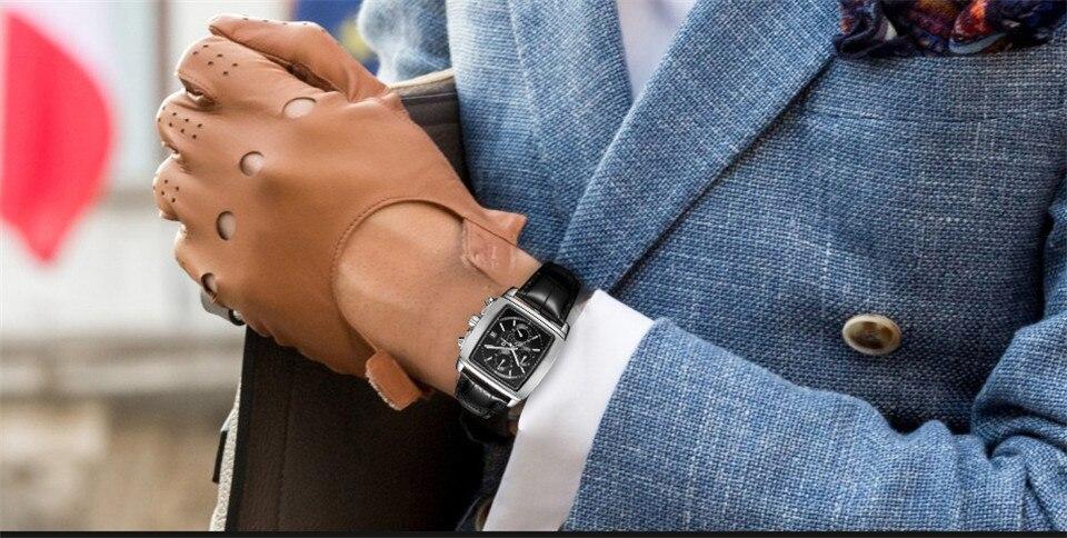 ساعة يد رجالي عالية الجودة مقاومة للماء 4
