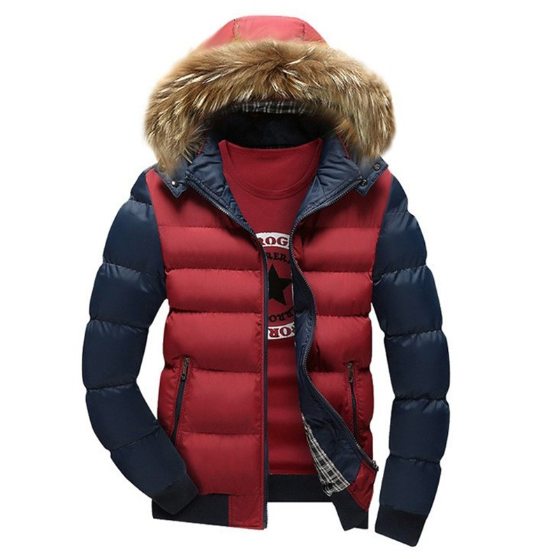 New Arrival Men Jacket Warm cotton coat mens casual hooded jackets Handsome Outwear thicking Parka Plus
