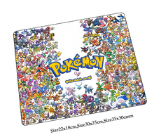 pokemon mouse pad Christmas gifts gaming mousepad gamer mouse mat pad game computer Colourful desk padmouse laptop play mats